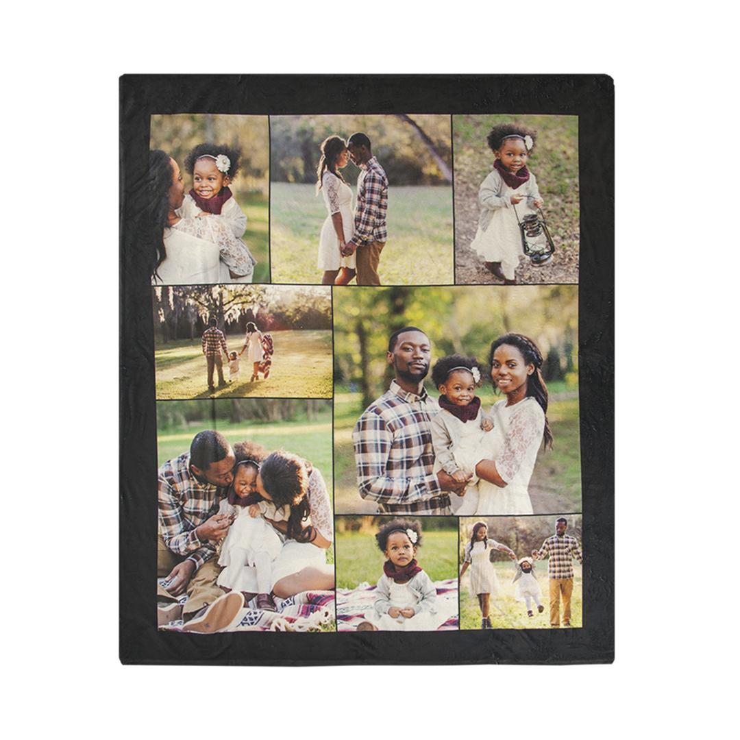 60x80 Collage Plush Fleece Blanket