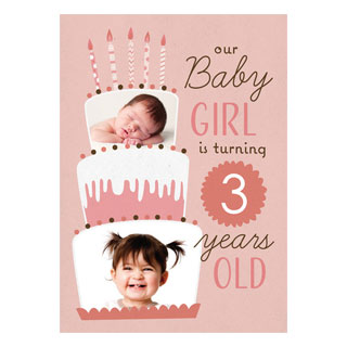 Photo Birthday Cards Babys First Picture Custom