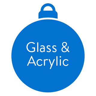 Glass and Acrylic Ornaments