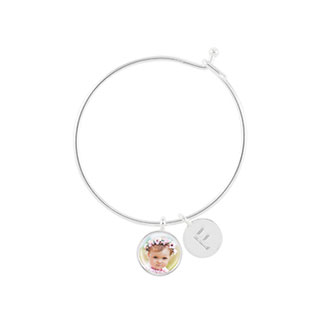 Charm and Letter Bangle