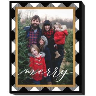 11x14 Photo Canvas with Traditional Frame
