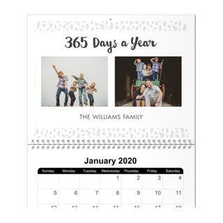 8x11 Wall Calendar, 12 Months