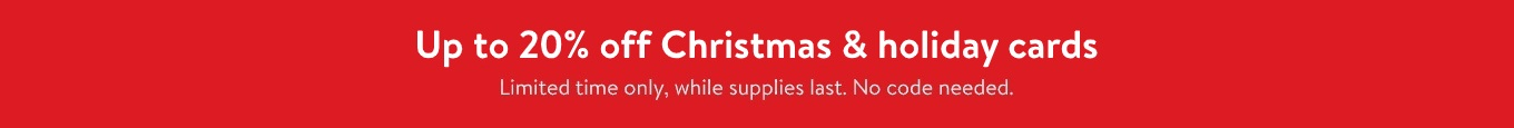 Upto 20% Off Christmas and Holiday Cards