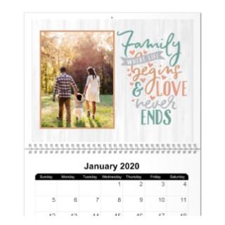 18 month 8x11 wall calendar