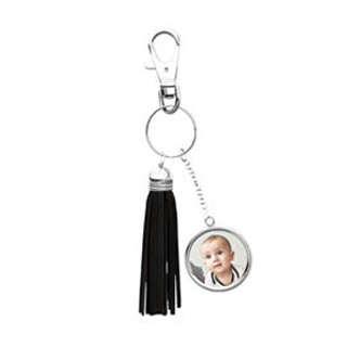Black Tassel Keychain