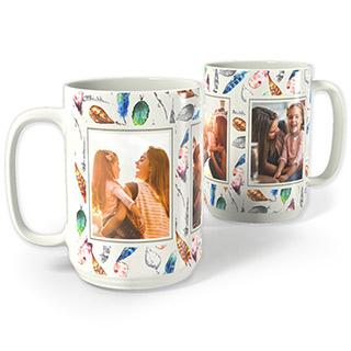 15oz White Photo Mug