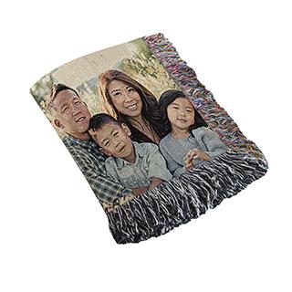 woven blanket, custom woven blanket, woven photo blanket, woven collage blanket
