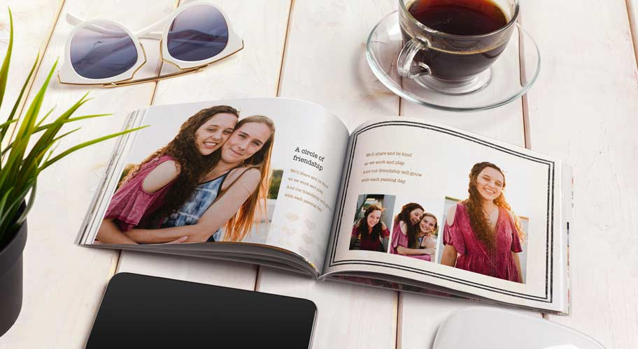 Custom photo book gift for grandma