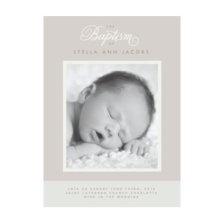 Baptism and Christening Card