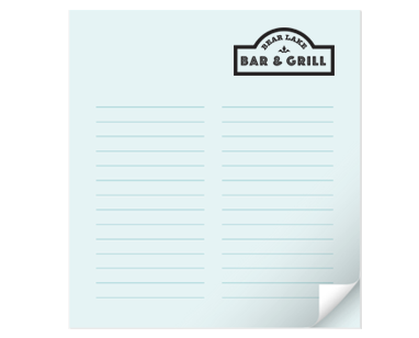 Custom business printing notepads colourmoves