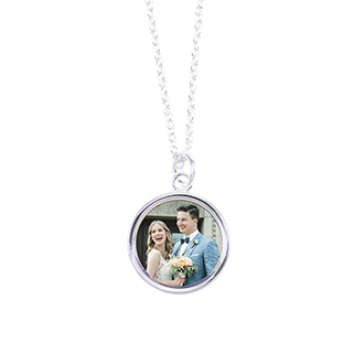 photo necklace with baby photo