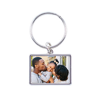 horizontal keychain with baby photo