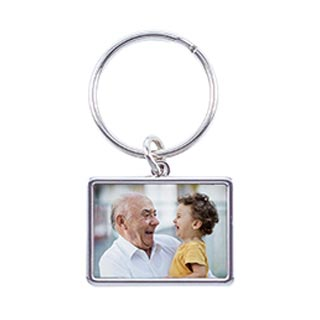 Horizontal Photo Keychain