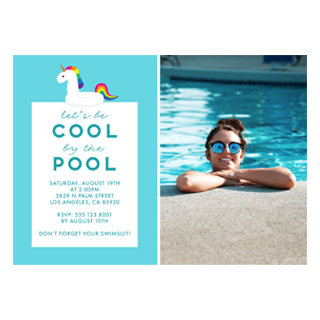 Summer party cards, summer party invites