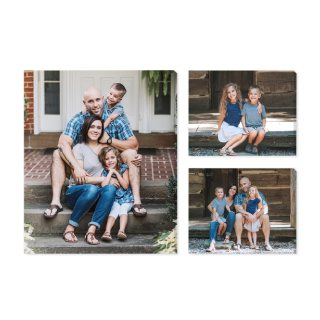 Family Trio Multi-Piece Photo Canvas, 3 Piece
