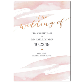 Wedding Program Cards