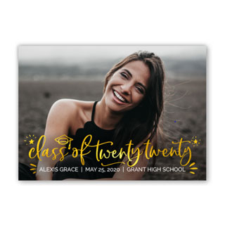 premium foil graduation card