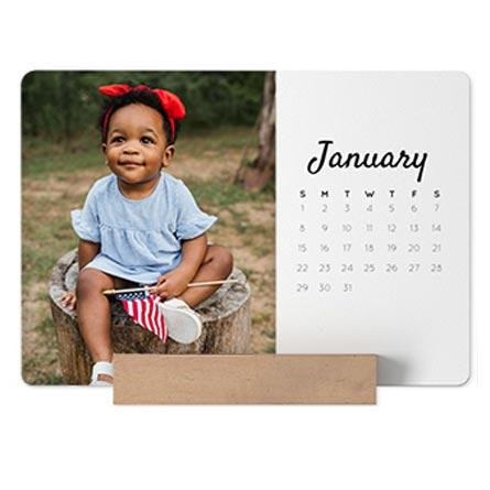 easel calendar, photo easel calendar