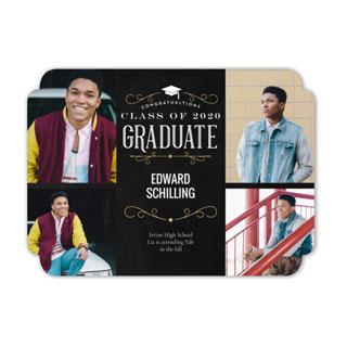 elegant trim graduation card
