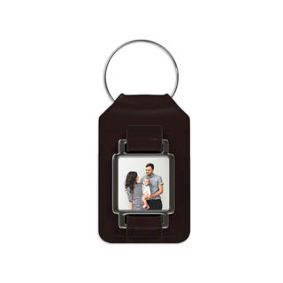 Leather Photo Keychain