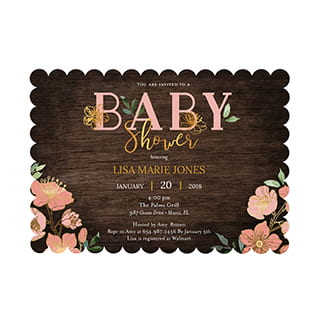 5x7 scalloped card stock cards
