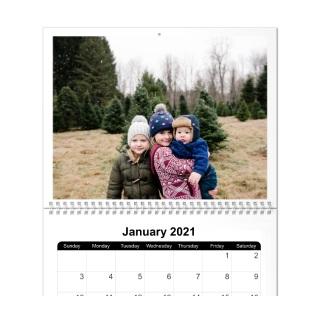 12 month 11x14 wall calendar