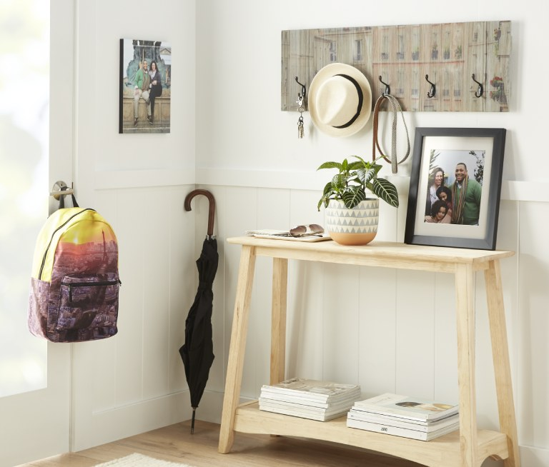 photo backpack, wall art, photo frame
