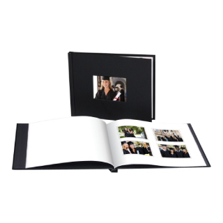 8x10 1 hour linen cover book