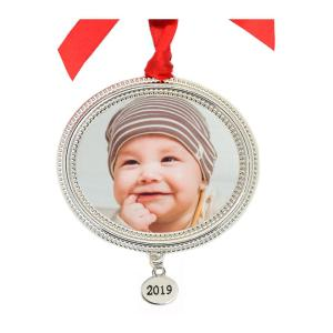 Thumbnail for 1080x1080 - Metal Beaded Frame Photo Ornament With 2019 Tag.jpg 1