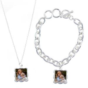 Thumbnail for 1080x1080 - Sterling Silver Plated Wave Necklace & Bracelet Set.png 1