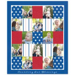 Thumbnail for 50x60 Plush Fleece Blanket with Americana design 1