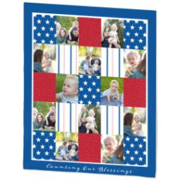 Thumbnail for 50x60 Fleece Blanket with Americana design 2
