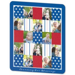 Thumbnail for 50x60 Sherpa Fleece Photo Blanket with Americana design 2