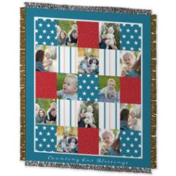 Thumbnail for 50x60 Photo Woven Throw with Americana design 2