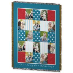 Thumbnail for 60x80 Photo Woven Throw with Americana design 2