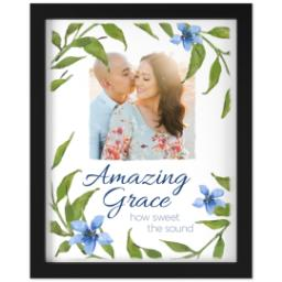 Thumbnail for 11x14 Photo Canvas With Contemporary Frame with Amazing Grace design 1