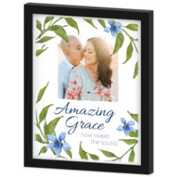 Thumbnail for 11x14 Photo Canvas With Contemporary Frame with Amazing Grace design 2