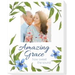 Thumbnail for 11x14 Photo Canvas with Amazing Grace design 1