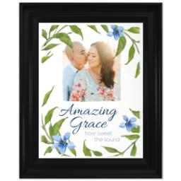 Thumbnail for 11x14 Photo Canvas With Traditional Frame with Amazing Grace design 1