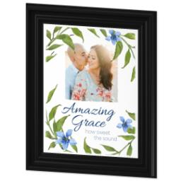 Thumbnail for 11x14 Photo Canvas With Traditional Frame with Amazing Grace design 2