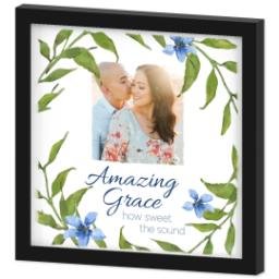 Thumbnail for 12x12 Photo Canvas With Contemporary Frame with Amazing Grace design 2