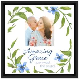 Thumbnail for 12x12 Photo Canvas With Floating Frame with Amazing Grace design 1