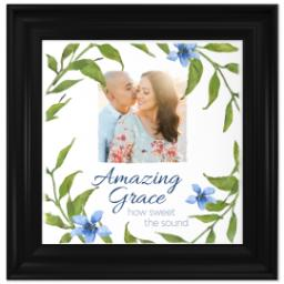 Thumbnail for 12x12 Photo Canvas With Traditional Frame with Amazing Grace design 1