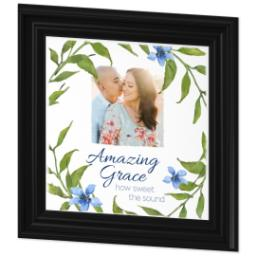 Thumbnail for 12x12 Photo Canvas With Traditional Frame with Amazing Grace design 2