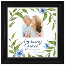 Thumbnail for 16x16 Photo Canvas With Traditional Frame with Amazing Grace design 1