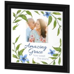 Thumbnail for 16x16 Photo Canvas With Traditional Frame with Amazing Grace design 2
