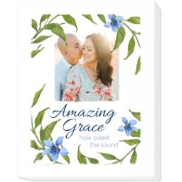 Thumbnail for 16x20 Photo Canvas with Amazing Grace design 1