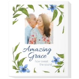 Thumbnail for 20x24 Photo Canvas with Amazing Grace design 1