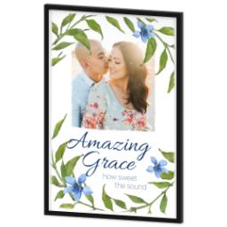 Thumbnail for 24x36 Photo Canvas With Contemporary Frame with Amazing Grace design 2