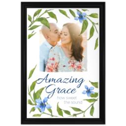 Thumbnail for 24x36 Photo Canvas With Traditional Frame with Amazing Grace design 1